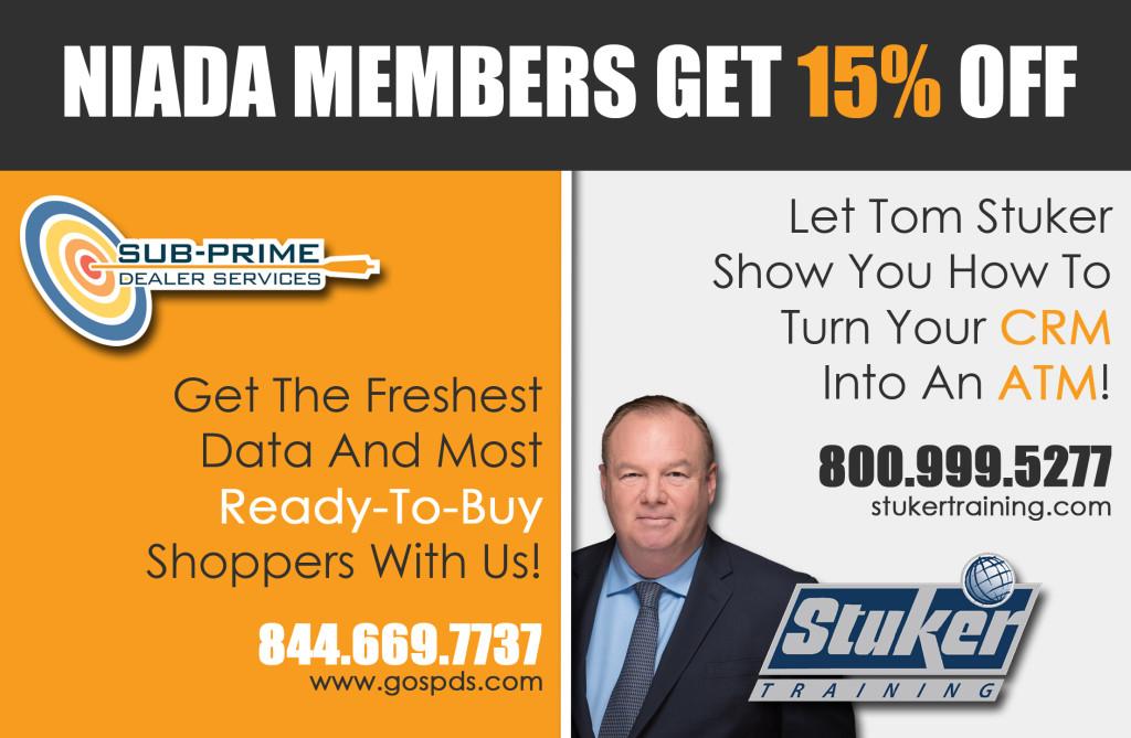 NIADA Members Get 15 %